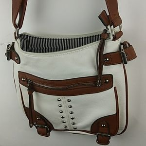Call it Spring Crossbody Purse, Brown & White